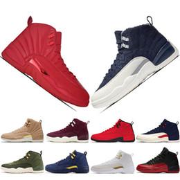 Nouveau 12s 12 Gym rouge Bottes De Moto mens chaussures De Basket-ball Vol International De La Grippe De Jeu UNC Wings Taxi Hommes de sport baskets formateurs de designer ? partir de fabricateur