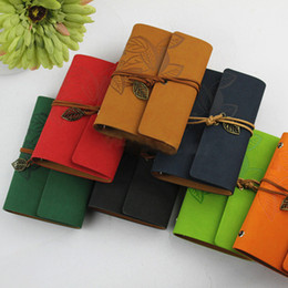 core accounts Coupons - Loose Leaf Notebook With Faux Leather Cover Resurrection Leaf Strap Loose Leaf Inner Core Notebook Diary Note Book Office Items BH2495 CY