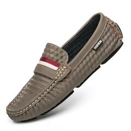 2019 atmosfera zapatos vestidos 2019 nuevos de alta calidad guisantes masculinos hombres del estilo de conducción atmósfera de cuero suave vestido de la manera zapatos de hombre, zapatos casuales de los hombres de la marca 40-45 rebajas atmosfera zapatos vestidos