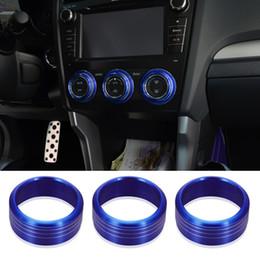 Deutschland 3 stücke AC Klimaknopf Ring Abdeckungen Schutz Aufkleber Für Subaru WRX STI Impreza Forester XV Auto Dekoration Zubehör Versorgung