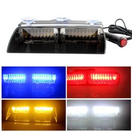 18 LED Lumière Voiture Balise Blanc Flash Stroboscope Clignotant Alerte Lampe