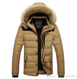 2019 cappotti di pelliccia designer INVERNO Uomini con cappuccio Designer Down Piumini Design in pelliccia pile caldo spessi cappotti vestiti cappotti di pelliccia designer economici