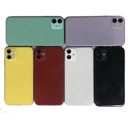 2019 iphone 5c capa da habitação traseira 6 cores dummy para Iphone 11 6.1 Falso Manequim Molde para Iphone 11 6.1 2019 telefone manequim de vidro móvel modelo de máquina de exibição não-trabalho