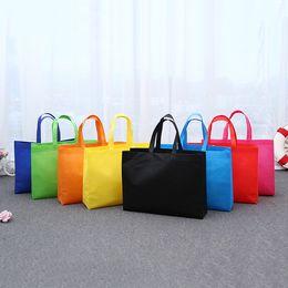 bolsos de color blanco Rebajas Bolsos de hombro de las mujeres no tejidas plegable Bolso de compras reutilizable de Eco grande unisex de la tela de tela Tote bolsa de los bolsos de comestibles
