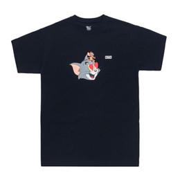 2020 katzenhemden mann 19ss kith x tom jerry herz t niedlichen cartoon cat und maus gedruckt männer frauen t-shirt kurzarm straße skateboard sommer t-shirt günstig katzenhemden mann