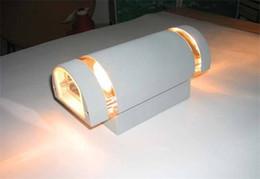 Weiße außenwandleuchten online-4 stücke Moderne Veranden Led Lampen Warm Cool White 8 Watt Aluminium Veranda Lichter Garten Außenbeleuchtung Wandleuchten
