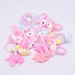 Anelli di barretta del bambino online-Anelli di dito unicorno 14mm Cartoon Horse Acrylic Costume Rings 100pcs / set Baby Supplies Favore di partito OOA6838