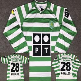 2019 camisetas de futbol portugal 02 03 Sporting Ronaldo Portugal Camiseta de fútbol 2002 2003 Lisboa Vintage Camisetas de fútbol Camisetas Kits de fútbol Ronaldo Camisa de futebol Maillot camisetas de futbol portugal baratos
