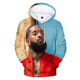hollister hoodie Promo Codes - New Summer Designer Hoodies Mens Women 3D Rap Hoodie Hooded nipsey hussle Casual Harajuku Pullovers
