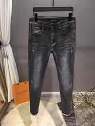 jeans di alta qualità Sconti 2019 STYLE LUXURY SUMMER FASHION UOMO JEANS AOLUYI TESSUTO ELASTICIZZATO SLIM AD ALTA RESISTENZA ACQUA RICICLATA SEMPLICE GENUINO GENUINO STILE DIMENSIONI 29-38