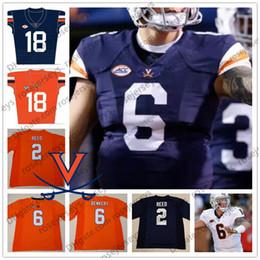 pietre arancioni Sconti UVA Virginia Cavaliers 2 Joe Reed 6 Kurt Benkert 8 Hasise Dubois 36 Lindell Stone blu scuro bianco arancio Football Junior Youth Jersey