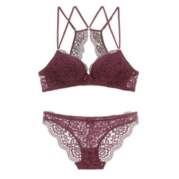 4fb1504bb437 China New Women's underwear Set Lace Sexy Push-up Bra And Panty Sets  Comfortable Brassiere