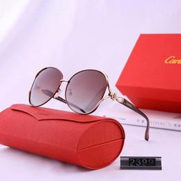 Modelos de belleza online-Gafas de sol de diseñador de belleza para mujer Gafas de sol de lujo Gafas de sol de diseñador Adumbral Gafas de sol UV400 Modelo C2399 5 colores de alta calidad con caja