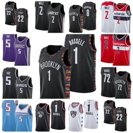Re net online-NCAA John Wizards Washington 2 Wall Brooklyn 1 D'Angelo Jersey Russell Nets 72 Biggie Sacramento 5 DeAaron King 5 Fox Basket Jersey Jersey 05