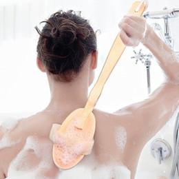 2019 bräunungswerkzeuge Mee_You Badebürste aus Holz mit langem Griff Abnehmbare Badebürste Schweinborstenbürste Soft Hair Bath Massager QT0027