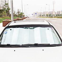 теплоизоляция для легковых автомобилей Скидка 130 см * 60 см автомобиль солнцезащитный козырек одна сторона Серебряная пена хлопок зонтик анти аэрации остыть теплоизоляция HHA294