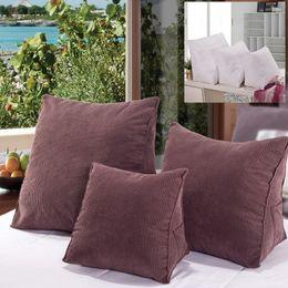 sofá moderno marrom Desconto Brown Pillow Estudo sofá do escritório Car Almofada Quarto decoração home moderna estilo simples cor sólida Pillow 55 * 55 * 28 cm