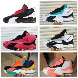 2019 nouvelles chaussures de basket design 2019 Design Nouveaux hommes Speed Turf XZ Chaussures De Basketball Air Barrage Mid QS Chaussures Baskets Designer
