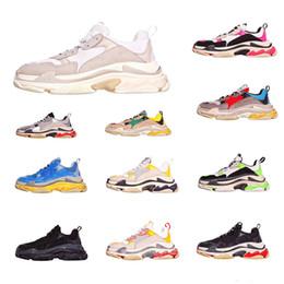 7e52a627 Venta barata limitada del diseñador de moda de la marca de París Triple  zapatos deportivos casuales mejor calidad Chaussures moda papá zapatillas  de deporte ...