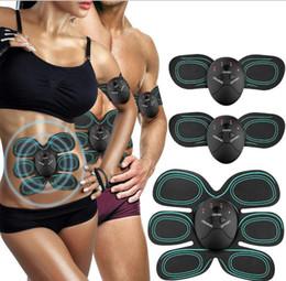 parches de masaje Rebajas Cinturón de musculación abdominal para musculación / EMS Conformación de pérdida de peso / Estimulación muscular Parche de masaje muscular abdominal