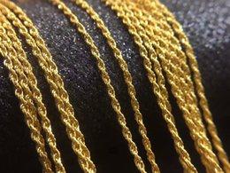 """Chaîne d'or jaune 18k en singapour en Ligne-RINYIN Fine Jewelry Véritable Collier en or jaune 18 carats Twisted Chaîne Singapour Entiers AU750 16"""" 18"""" pouces"""