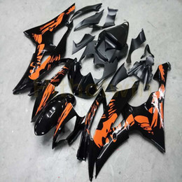 kundenspezifische verkleidungen für yamaha yzf r6 Rabatt Botls + Kundenspezifische orange schwarz Spritzgießwerkzeug Motorradverkleidung für Yamaha YZF-R6 06 07 YZF R6 2006 2007 ABS Verkleidungs