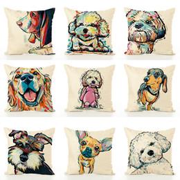 53cb5abd6a67f Renkli Çizim Köpek Yastık Çocuk Yastık Kapak Güzel Öğrenci Ev Erkek Kadın  Kadın Kullanım Yastık Suit 6 9js A1 cheap suit drawing