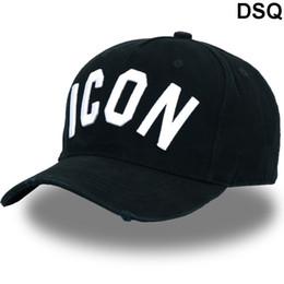 possenti cappelli di anatre Sconti DSQ ICON Lettere Cotton D2 Baseball Caps Uomini Donne di alta qualità di disegno del cliente di baseball Trucker Snapback Hats Dad