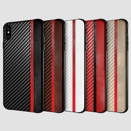 Pour Iphone XR XS MAX X 8 7 6 S plus cas de téléphone portable en fibre de carbone cuir texture cas couverture pour Samsung Galaxy S8 S9 S10 PLUS de luxe ? partir de fabricateur