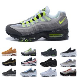 Argentina Nike air max 95 95s airmax 2018 chaussures Air New Mens Womens Classic negro rojo blanco Sports Trainer superficie Cojín transpirable zapatillas deportivas zapatillas 36-46 Suministro