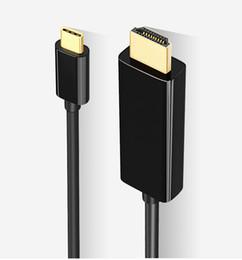cavo dvi d vga Sconti Per Huawei mate10 tipo-c girare cavo HDMI Collegare TV proiettore 4k linea HD 1080P cavo HD
