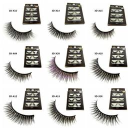 2019 outil 15 3D vison faux cils longs épais vison naturel cils à la main faux cils yeux maquillage outils 15 styles RRA945