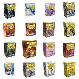 2019 jogos de tabuleiro de bebê Dragon Shield 100 PCS / LOT NONE MATTE Cartões mangas MGT Board Game Cartões de jogo da estrela Realms mangas Protector para PKM