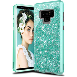 green body glitter Coupons - For Samsung Note 9 Case Luxury Women Bling Glitter Cover Heavy Duty Hybrid Full-Body Protective Cover Defender Case For Samsung S9 S9plus