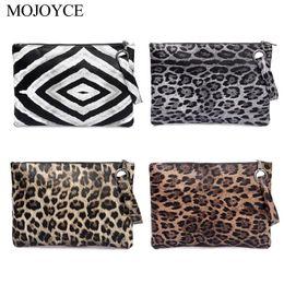 carteiras leopardo para mulheres Desconto Imprimir Casual Mulheres animal Clutch Feminino Design de Moda Leopard Print portátil Wristlet embreagem carteira mulheres PU Leather Coin Purse