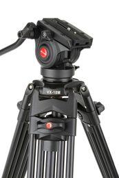 жидкости с полукруглой головкой 1,8 м Viltrox ЧХ-18М профессиональный тяжелая обязанность алюминиевый видео штатив + жидкости с полукруглой головкой + сумка для камеры DV от Поставщики пластиковые самоклеящиеся палочки