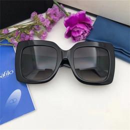 occhiali da sole della signora nuovo disegno Sconti 2019 New fashion occhiali da sole donna 3 colori cornice cristallo lucido design piazza grande cornice hot lady design lente UV400 con custodia