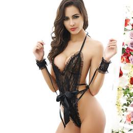 Um pedaço spandex underwear on-line-2019 Brand New Mulheres Sexy Lingerie Erótica Rendas One-piece Nightwear Underwear Babydoll Sleepwear