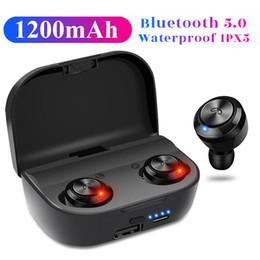 2019 unsichtbare bluetooth mini kopfhörer Neue A6 plus TWS Mini Bluetooth 5.0 Kopfhörer Drahtlose Ohrhörer Unsichtbare Kopfhörer Freisprecheinrichtung In-Ear-Headset Stereo 1200mAh Powerbank günstig unsichtbare bluetooth mini kopfhörer