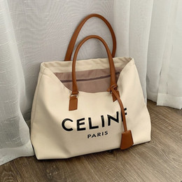 2020 grandi borse a tracolla per le ragazze sacchetto portatile Canvas Tote pendolarismo una spalla ragazzona 2020 nuovo centro commerciale di svago sacchetto semplice di grande capacità sconti grandi borse a tracolla per le ragazze