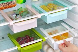 Cajas congeladoras online-estantes de cocina refrigerador de cocina estante de almacenamiento refrigerador congelador estante titular cajón extraíble organizador caja de ahorro de espacio soportes de almacenamiento
