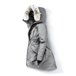 capuz de pele parka preta Desconto Lobo Fur Mulheres Winter jaqueta corta-vento Clothes Womens 2019 Luxury Designer Jacket Jaquetas de Down Parka Bomber Coats Doudoune Femme E40