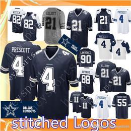 4 Dak Prescott Dallas Cowboys 21 Ezekiel Elliott Jersey Mens 55 Vander Esch  82 Jason Witten 90 DeMarcus Lawrence 11 Beasley Football Jerseys f7d8cd915