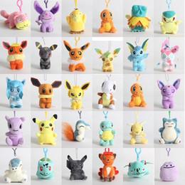 Argentina 20 estilos de peluche de juguete 12-18 cm pokemones Pikachu Snorlax Charmander Mewtwo Dragonite lindo suave muñecas rellenas para niños regalo de Navidad cheap pokemon soft toys Suministro