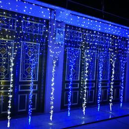 1280 LED Birnen / Lichter 8 * 5m Vorhang Lichter, Weihnachtsverzierung Eiszapfenlicht, Flash farbige Fee Hochzeit Dekoration wasserdichte LED-Streifen DHL von Fabrikanten