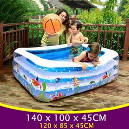 2020 cuadrados inflables Gran piscina cuadrada para bebés, para niños Piscina inflable, piscinas de plástico, bebés inflables para niños, bañera YP02 rebajas cuadrados inflables