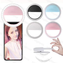 2019 ipad selfie Kamera leuchtet 3 watt usb ladung batterie selfie tragbare flash led fotografie ring licht verbessern fotografie für iphone samsung lg ipad dhl günstig ipad selfie