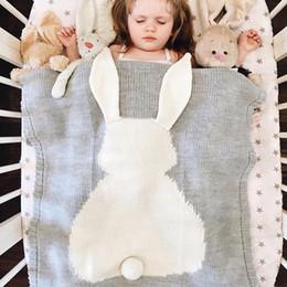 2019 grandes mantas de bebé Mantas de cama para recién nacidos Manta de cubierta de carro de bebé Manta de oreja grande linda Suave y cálida de punto Swaddle Toalla de baño para niños grandes mantas de bebé baratos