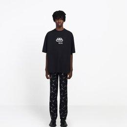Lüks Kilit Yeni Logo Baskı Erkek Tasarımcı T Shirt Moda Sıcak Kısa Kollu Kadın Çift Siyah Beyaz Sarı Yuvarlak Boyun Tee HFSSTX168 nereden yeni kilit çocuğu tedarikçiler