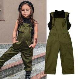 2-7Y Conjuntos de ropa para bebés y niñas pequeñas Cuello alto sin mangas Chaleco negro Tops + Pantalones de monos sólidos Conjuntos de verano desde fabricantes